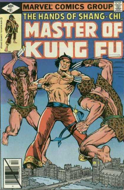 Master of Kung Fu 81 - Martial Arts - Fighting - Knives - Leopard Skin Outfits - Clock Tower In The City