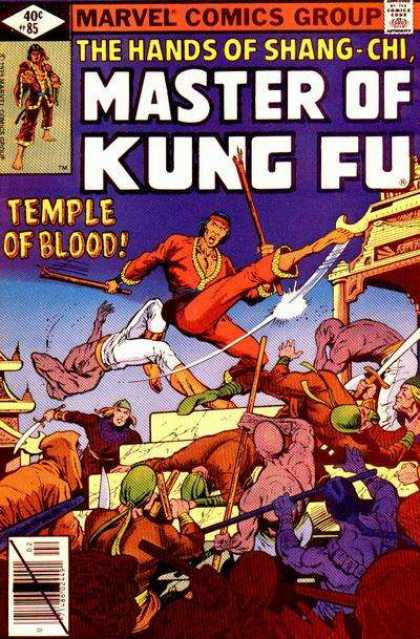 Master of Kung Fu 85 - Mavrel Comics Group - The Hands Of Shang-chi - Temple Of Blood - Ninja - Fighting