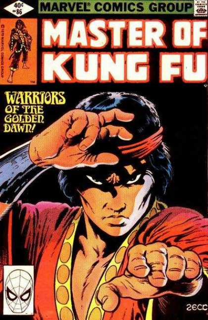 Master of Kung Fu 86 - Warriors - Golden - Dawn - Hands - Bandana
