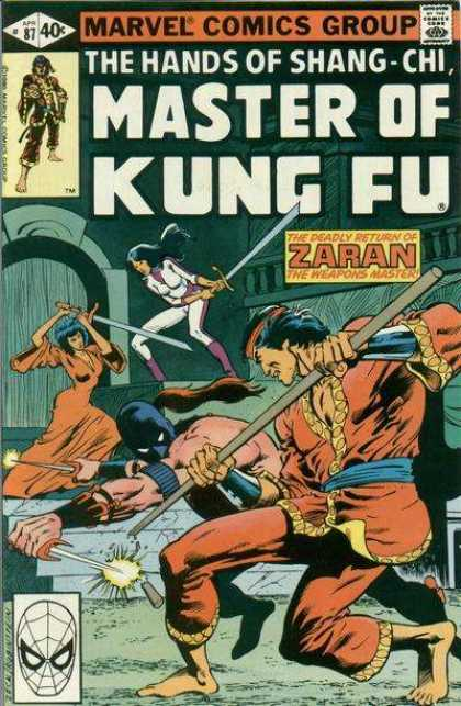 Master of Kung Fu 87 - Marvel Comics Group - The Hands Of Shang-chi - Zaran - Spiderman Mask - 40c - Josef Rubinstein