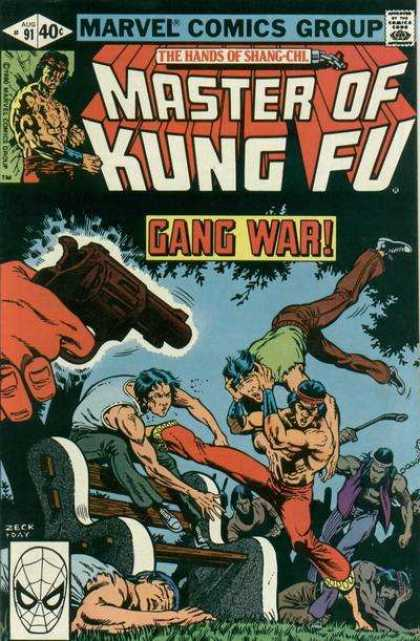 Master of Kung Fu 91 - Master - Kung Fu - Gang War - Marvel - Comics