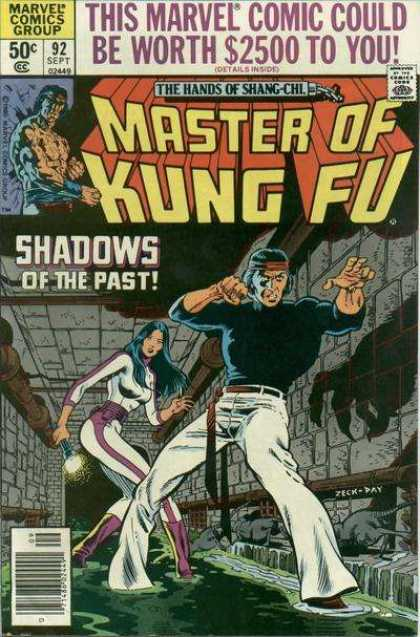 Master of Kung Fu 92 - Marvel - Shadows Of The Past - Hands Of Shang-chi - September - 50 Cents