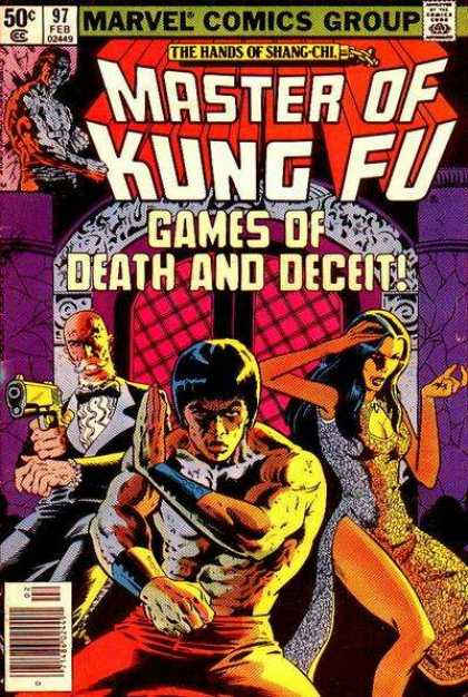 Master of Kung Fu 97 - Marvel - Gun - Tux - Bald - Window