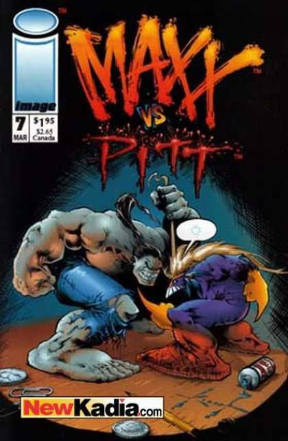 Maxx 7 - Vs Pitt - No 7 - March - Paperclip - Wrestle - Sam Kieth