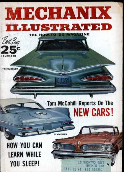 Mechanix Illustrated - 11-1958