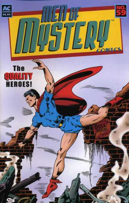 Men of Mystery 59 - Rubble - Doll Man - Red Cape - Smoke - Blue Shorts
