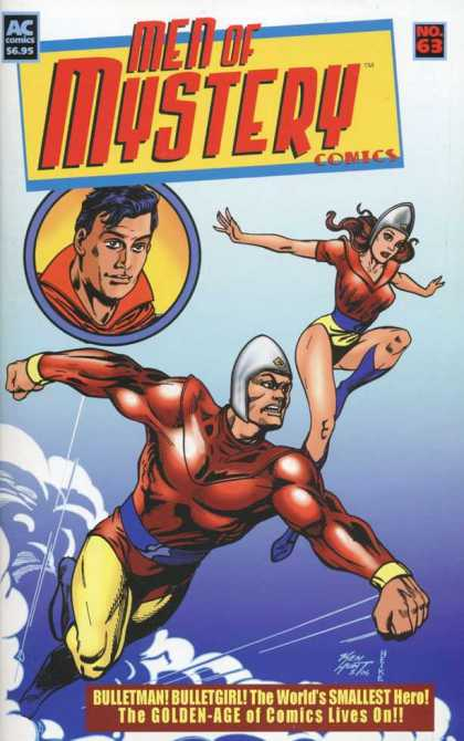 Men of Mystery 63 - Ac Comics - Bulletman - Bulletgirl - The Worlds Smallest Hero - The Golden Age Of Comics Lives On
