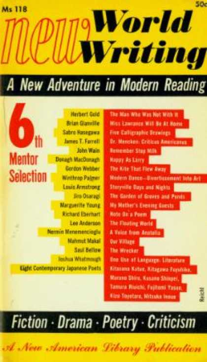 Mentor Books - New World Writing: 6th Mentor Selection - Various