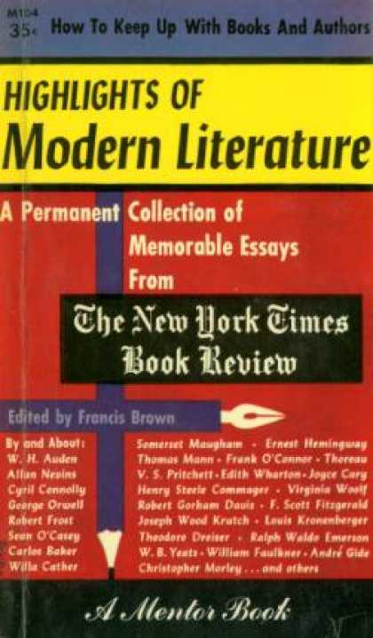 Mentor Books - Highlights of Modern Literature - Francis Brown