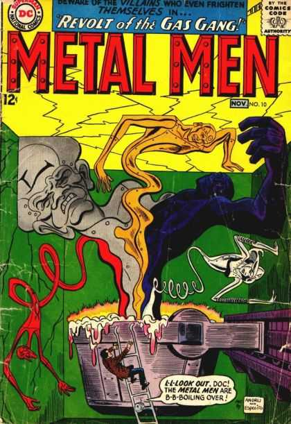 Metal Men 10 - Revolt Of The Gas Gas - Villains - Comics Cook - Nov - No 10 - Ross Andru