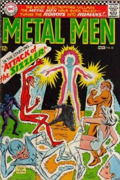 Metal Men 22 - Dc - The Sizzler - November - Electrifying Villain - 12 Cents