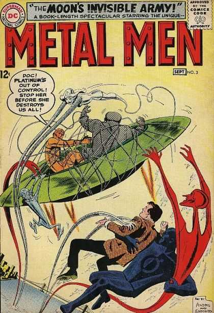 Metal Men 3 - Alien - Ufo - Cords - Strings - Platinum - Dan Jurgens, Ross Andru