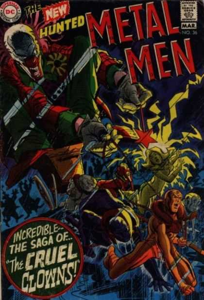 Metal Men 36 - Dc Comics - Clowns - Silver Age - Robots - Superheros