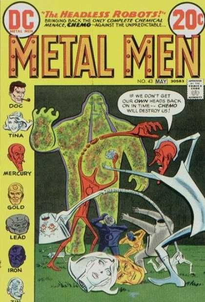 Metal Men 43 - The Headless Robots - Tina - Mercury - Doc - Gold - Ross Andru