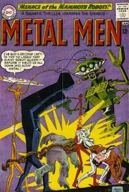 Metal Men 5 - Robot - Insect - Menace Of The Mammoth Robots - Dc - Laser - Duncan Rouleau, Ross Andru