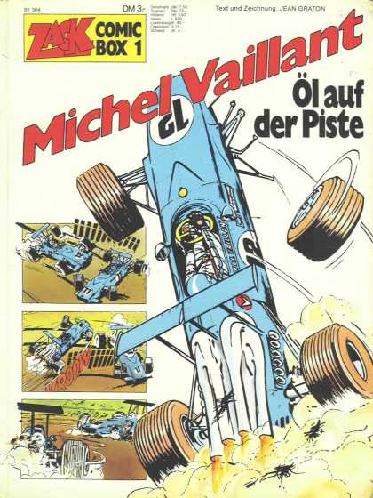 Michel Vaillant 1 - Zack Comic Box - Tyres - Vehicles - One Side Up - Text Und Zeichnung
