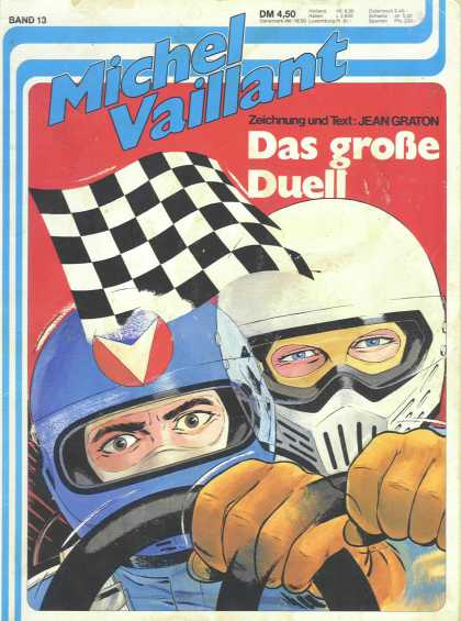 Michel Vaillant 13 - Checkered Flag - Helmet - Steering Wheel - Glasses - Das Grobe Duell