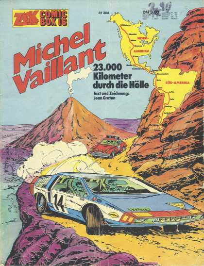 Michel Vaillant 2 - Race - Cars - Mountains - Smoke - Map