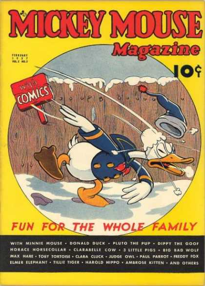 Mickey Mouse Magazine 17 - Donald Duck - Snow Ball - Snow - Cap - Fun For The Whole Family
