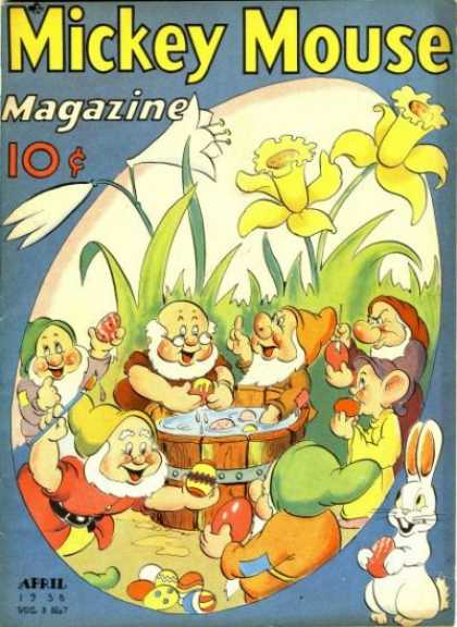 Mickey Mouse Magazine 31 - Seven Dwarves - Tulips - Rabbit - Flowers - Easter Eggs