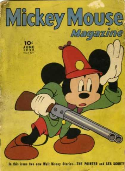 Mickey Mouse Magazine 45 - June 1939 - Gun - Cap - Walt Disney Stories - The Pointer And Sea Scout