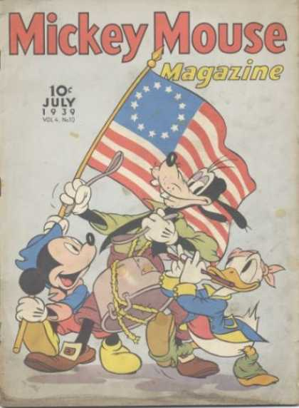 Mickey Mouse Magazine 46 - Flag - Donald Duck - Spoon - 10 C July - Hat