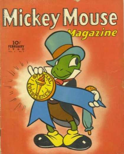 Mickey Mouse Magazine 53 - Gold Medal - Official Conscience - Mickey Max - Long Hat - Black Shoe