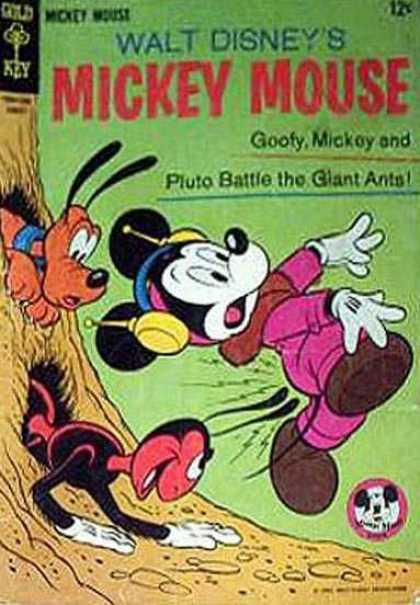 Mickey Mouse 102 - Walt Disney - Goofy - Pluto - Giant Ants - Gold Key