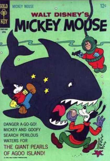 Mickey Mouse 106 - Scuba - Water - Shark - Goofy - Stars