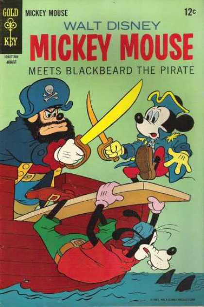 Mickey Mouse 114 - Mickey Mouse - Walt Disney - Meets Blackbeard The Pirate - Gold Key - August