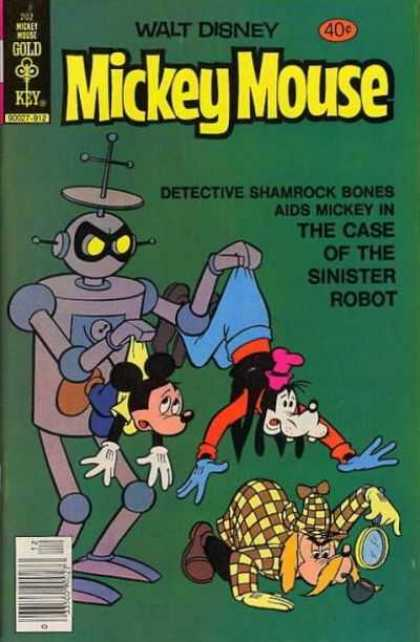 Mickey Mouse 202 - Walt Disney - Goofy - The Case Of The Sinister Robot - Detective Shamrock Bones - Gold Key