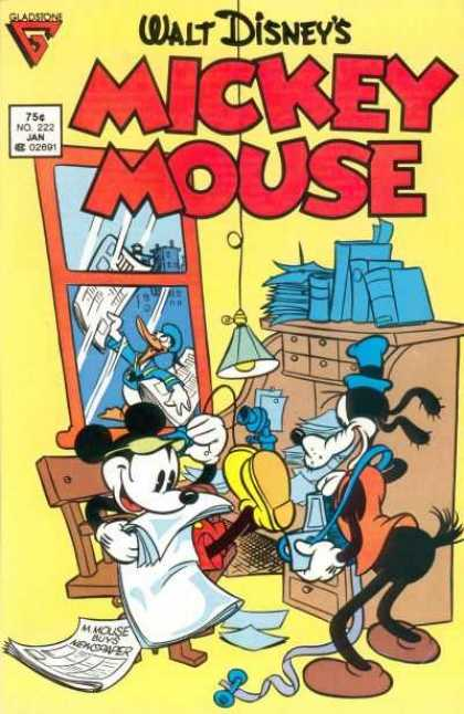 Mickey Mouse 222 - Goofy - Donald Duck - Office - Telephone - Newspaper