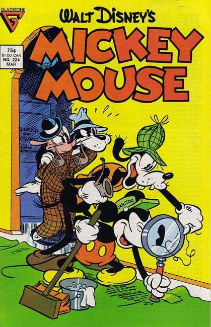 Mickey Mouse 224 - Goofy Has Pipe Dreams - Sherlock Bones - Hair Today - Clueless Canines - Mouse In Mysterious Magnifying Mystery