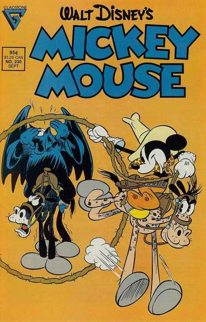 Mickey Mouse 230 - Walt Disney - Gladstone - Blue - Yellowrope