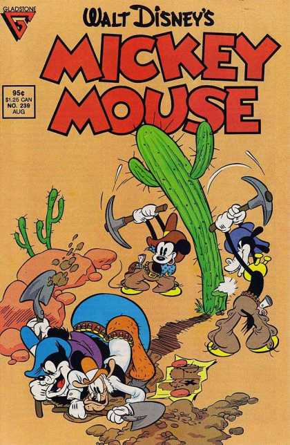 Mickey Mouse 239 - Disney - Mickey Mouse - Desert - Cactus - Black Pete