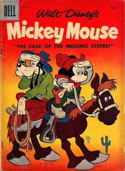 Mickey Mouse 53 - Goofy - Mule - Cactus - Rope - Stirrup
