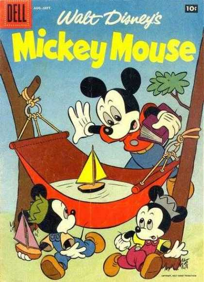 Mickey Mouse 55 - Mice - Boats - Hammock - Trees - Water