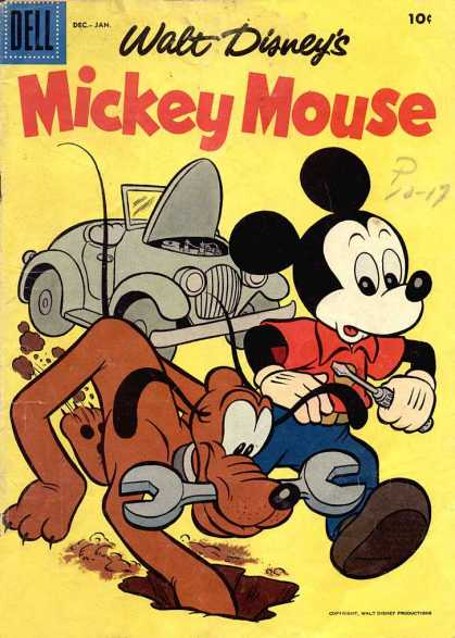 Mickey Mouse 57 - Pluto - Dell - Walt Disney - Car - Wrench
