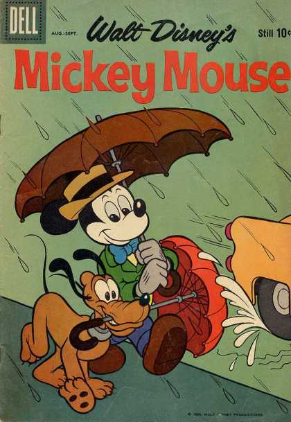 Mickey Mouse 67 - Umbrella - Rain - Puddle - Splash - Car Tire