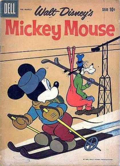 Mickey Mouse 70 - Goofy - Skiis - Ski Lift - Snow - Blue Hat