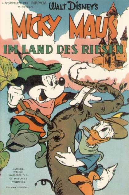 Micky Maus Sonderheft 5 - Mickey Mouse And Donald Duck - Mickey And Donald Climbing Beanstalk - Castle In The Sky - Disney Comic In German - Jack And The Beanstalk Story With Disney Twist