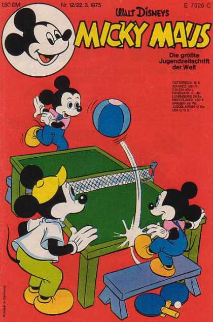 Micky Maus 1005 - Table Tennis - Game - Walt Disneys - Ball - Bat