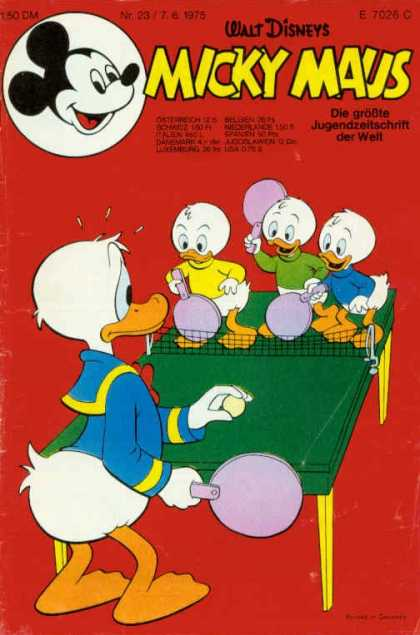 Micky Maus 1016 - Walt Disney - Ping Pong - Paddle - Table - Donald Duck