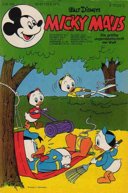 Micky Maus 1030 - Huey Dewey And Louie - German - Eighties - Donald Duck - Collection