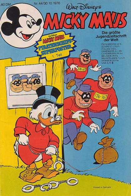 Micky Maus 1089 - Duck - Masks - Convicts - Bag - Caps