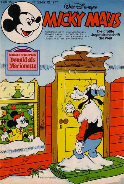 Micky Maus 1150 - Goofy - Knocking On Door - Window - Christmas Tree - Snow