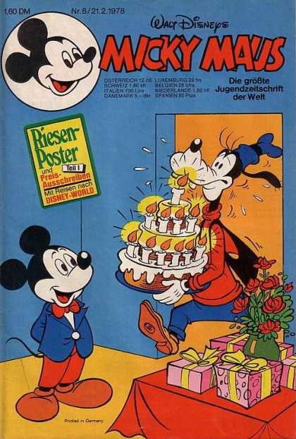 Micky Maus 1158 - Mickey Mouse - German - Goofy - Candle - Poster
