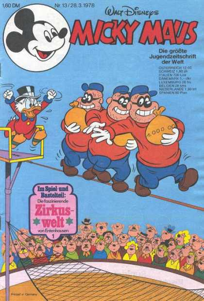 Micky Maus 1163 - German - Disney - Mickey Mouse - Scrooge Mcduck - Childrens Comics
