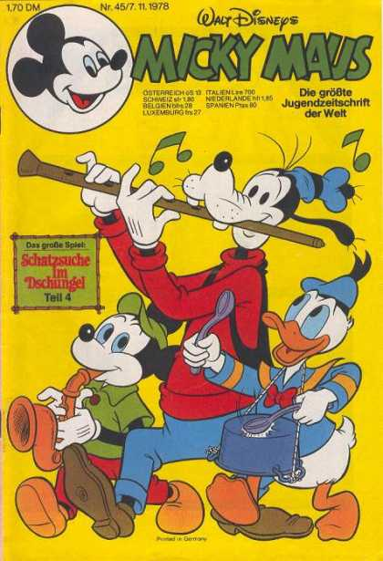 Micky Maus 1195 - Parade - Band - Goofy - Flute - Donald