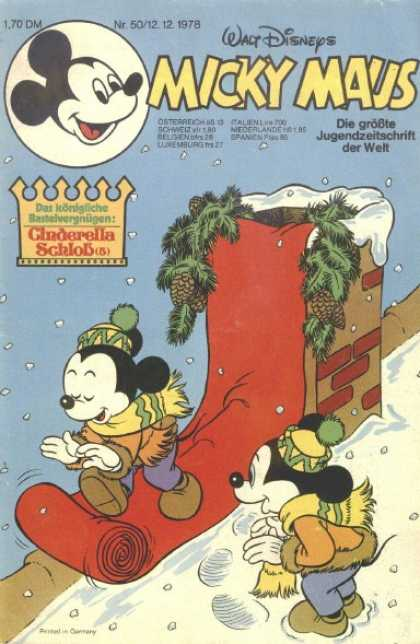Micky Maus 1200 - Snow - Chimney - Roof - Winter - Red Carpet